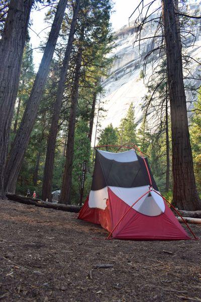 Backpacker-Campingplatz